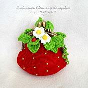Wallets handmade. Livemaster - original item Strawberry - wallet. Handmade.