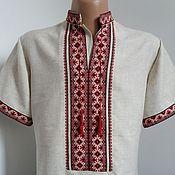 Одежда ручной работы. Ярмарка Мастеров - ручная работа вышитая льняная рубашка. Handmade.
