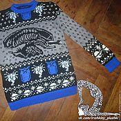 Одежда ручной работы. Ярмарка Мастеров - ручная работа Дизайнерский вязаный свитер. Handmade.