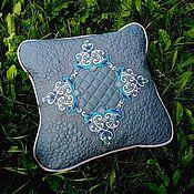 Для дома и интерьера handmade. Livemaster - original item The pillow is made of eco-leather. Handmade.