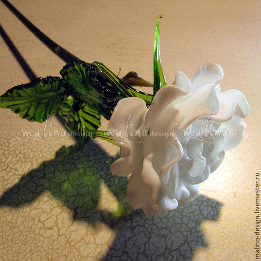 Подарки для влюбленных ручной работы. Ярмарка Мастеров - ручная работа. Купить белая роза. Handmade. Белый, подарок на 8 марта
