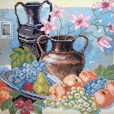 """Картины и панно ручной работы. Ярмарка Мастеров - ручная работа Картина вышитая """" Натюрморт"""". Handmade."""