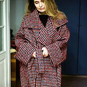 """Одежда ручной работы. Ярмарка Мастеров - ручная работа Пальто большого размера """"Красное в крапинку"""". Handmade."""