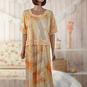 Одежда handmade. Livemaster - original item Summer Dress of fine Jersey with lace