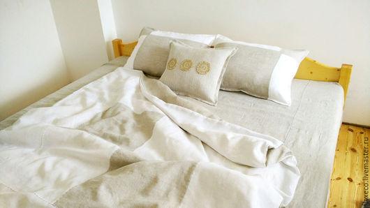 Текстиль, ковры ручной работы. Ярмарка Мастеров - ручная работа. Купить Комплект постельного белья, 100% лен «Кружева».. Handmade.