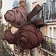 """Броши ручной работы. Брошь """"Загадочный Париж"""". Textilnoe tvorchestvo. Интернет-магазин Ярмарка Мастеров. Бежевый, аксессуары, бордо, шарм"""