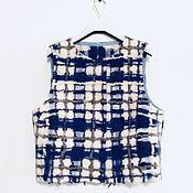 Одежда ручной работы. Ярмарка Мастеров - ручная работа Жилет валяный клетка. Handmade.