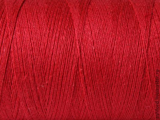 """Другие виды рукоделия ручной работы. Ярмарка Мастеров - ручная работа. Купить Нитки для ткачества """"Хлопко-Лён"""" - красный.. Handmade."""