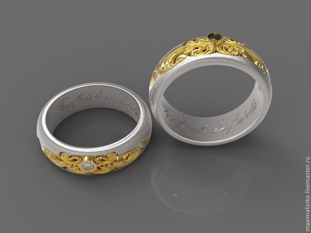 New Engagement rings Baroque gold with diamonds – shop online on  JM86