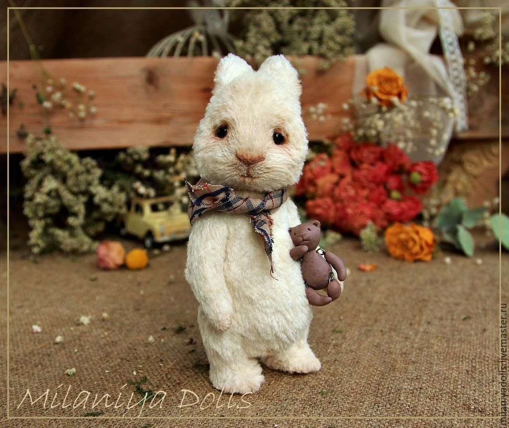 Friends Teddy. The author's work. Teddy-Bunny, Stuffed Toys, Vladikavkaz,  Фото №1