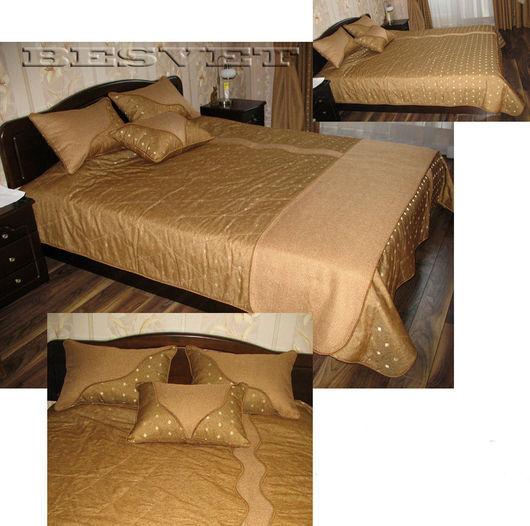 Текстиль, ковры ручной работы. Ярмарка Мастеров - ручная работа. Купить Покрывало и подушки. Handmade. Покрывало на кровать, синтепон, жакард