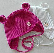 Работы для детей, ручной работы. Ярмарка Мастеров - ручная работа шапочка с ушками. Handmade.