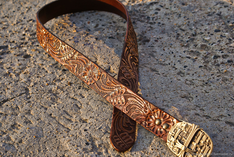 Leather belt 'Classic brown', Straps, Krasnodar,  Фото №1