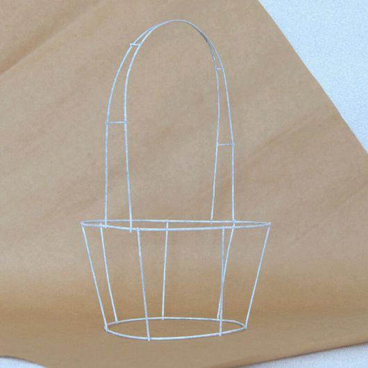 Другие виды рукоделия ручной работы. Ярмарка Мастеров - ручная работа. Купить Корзина каркас, основа для декорирования. Handmade. Корзина