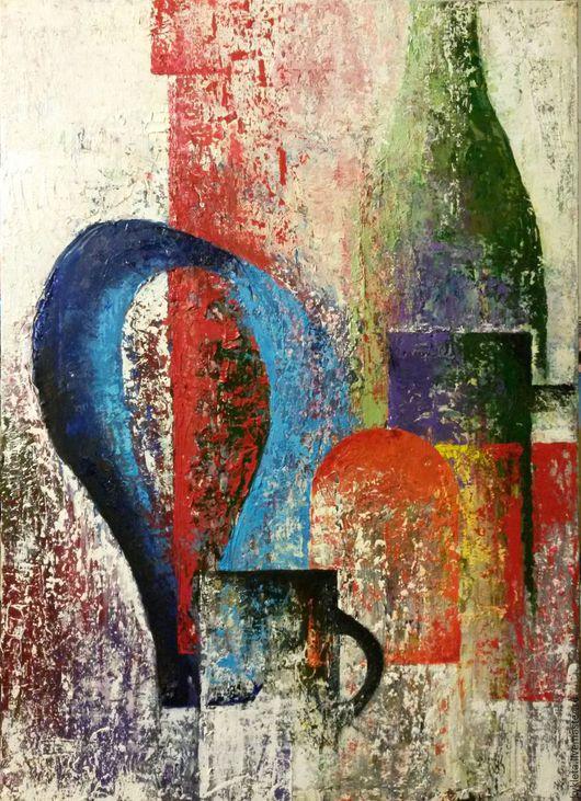 Абстракция ручной работы. Ярмарка Мастеров - ручная работа. Купить Картина масло холст Натюрморт 50х70 Аbstraction. Handmade. Белый