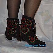 """Обувь ручной работы. Ярмарка Мастеров - ручная работа ботиночки женские вязаные """"София"""". Handmade."""
