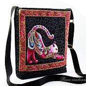 Сумки и аксессуары handmade. Livemaster - original item Crossbody bag, series pink Iridescent Cats. Handmade.