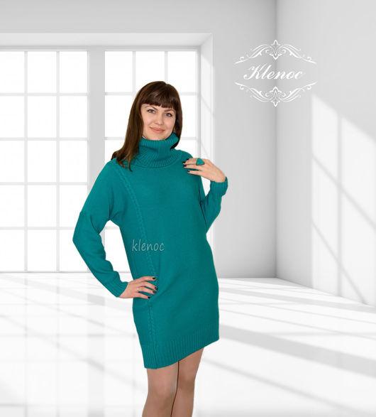 Платье свитер из шерсти меринос