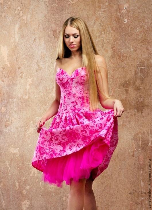 Платья ручной работы. Ярмарка Мастеров - ручная работа. Купить Платье пышное. Handmade. Розовый, пышное платье, yansons