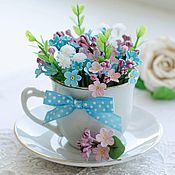 Цветы и флористика handmade. Livemaster - original item A Bouquet Of Forget-Me-Not Cup. Handmade.