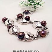 Украшения handmade. Livemaster - original item Bracelet Briz - natural pearls, silver 925. Handmade.