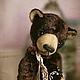 Teddy Bears handmade. Livemaster - handmade. Buy Mstislav. bear-teddy.Gift, brown, sawdust, metal granulate