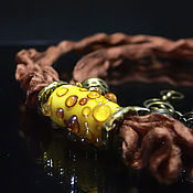 """Украшения ручной работы. Ярмарка Мастеров - ручная работа Колье """"Капли меда"""". Handmade."""