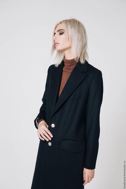 Верхняя одежда ручной работы. Ярмарка Мастеров - ручная работа. Купить Пальто Черное. Handmade. Черный, длинное пальто
