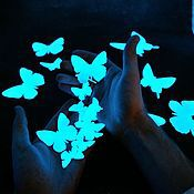 Для дома и интерьера ручной работы. Ярмарка Мастеров - ручная работа Светящиеся виниловые наклейки - Озорные бабочки. Handmade.
