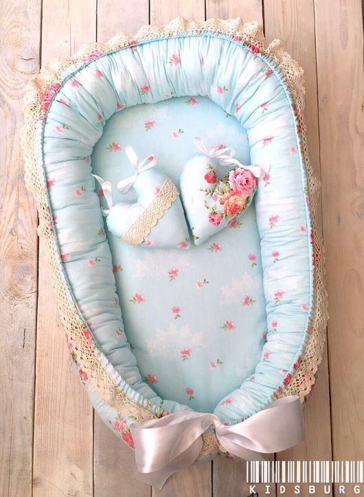 Для новорожденных, ручной работы. Ярмарка Мастеров - ручная работа. Купить Кокон для новорожденного Luxury Flower. Handmade. Хлопок, новорожденной