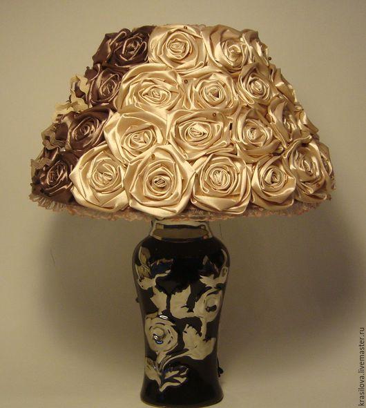 Освещение ручной работы. Ярмарка Мастеров - ручная работа. Купить Лампа - ночникс абажуром. Handmade. Коричневый, подарок