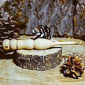 Крючки ручной работы. Ярмарка Мастеров - ручная работа Крючок для вязания 4,5 мм Натуральное дерево Яблоня  #K18. Handmade.