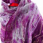 Одежда ручной работы. Ярмарка Мастеров - ручная работа Палантин войлок,шелк. Handmade.