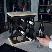Подставки ручной работы. Ярмарка Мастеров - ручная работа Подставка для бутылок настольная из массива бука. Handmade.