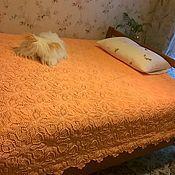 Для дома и интерьера ручной работы. Ярмарка Мастеров - ручная работа Покрывало Оранжевое настроение. Handmade.