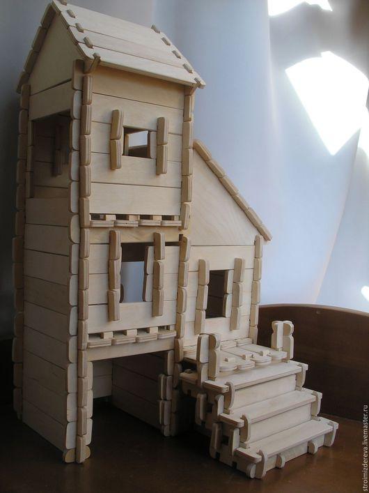 """Куклы и игрушки ручной работы. Ярмарка Мастеров - ручная работа. Купить Кукольный домик """"Таунхаус"""". Handmade. Конструктор из дерева"""