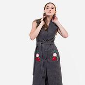 Одежда handmade. Livemaster - original item Woolen vest with author embroidery Ksenia Knyazeva. Handmade.