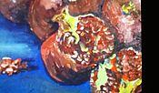 Картины и панно ручной работы. Ярмарка Мастеров - ручная работа Гранаты любимые картина маслом. Handmade.