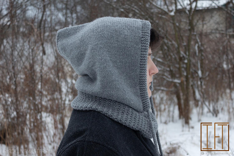 Knitted men's hood-snood made of wool, Hoods, Nizhny Novgorod,  Фото №1