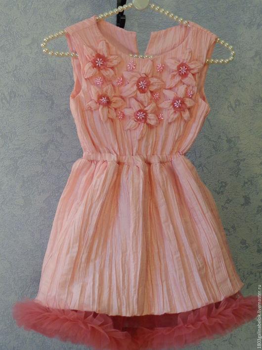 Одежда для девочек, ручной работы. Ярмарка Мастеров - ручная работа. Купить Розовое платье для красивой девочки. Handmade. Розовый
