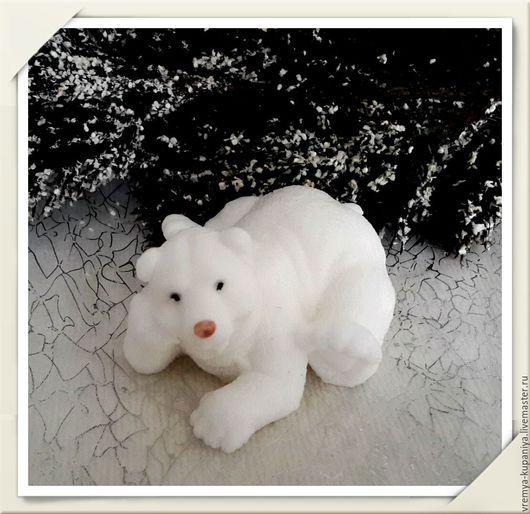 """Материалы для косметики ручной работы. Ярмарка Мастеров - ручная работа. Купить Силиконовая форма для мыла  """"Полярный мишка - 3"""". Handmade."""