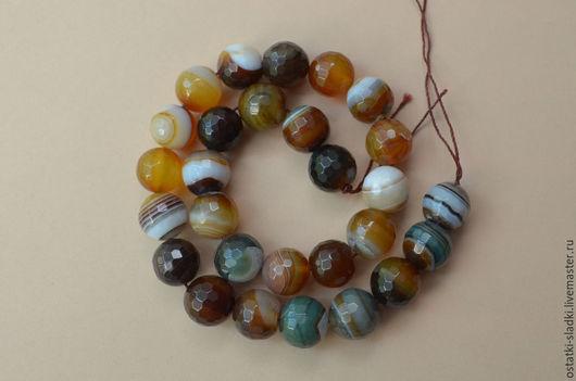 Для украшений ручной работы. Ярмарка Мастеров - ручная работа. Купить Агат ботсванский, бусины, граненый шар, 13мм. Handmade.