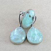 Украшения handmade. Livemaster - original item Earrings and ring with green beryl. Green kit. Handmade.
