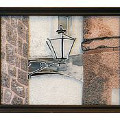 """Картины и панно ручной работы. Ярмарка Мастеров - ручная работа Картины на стекле серия """"Хорватия-Дубровник"""" Фонарь. Handmade."""