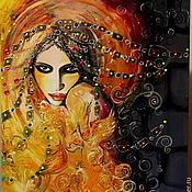 Картины и панно ручной работы. Ярмарка Мастеров - ручная работа картина маслом  ЖАР-ПТИЦА. Handmade.