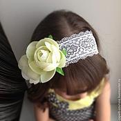 Работы для детей, ручной работы. Ярмарка Мастеров - ручная работа Повязка на голову с цветком. Handmade.