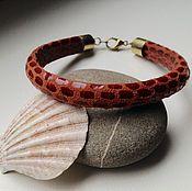 Украшения handmade. Livemaster - original item Men`s leather bracelet.. Handmade.