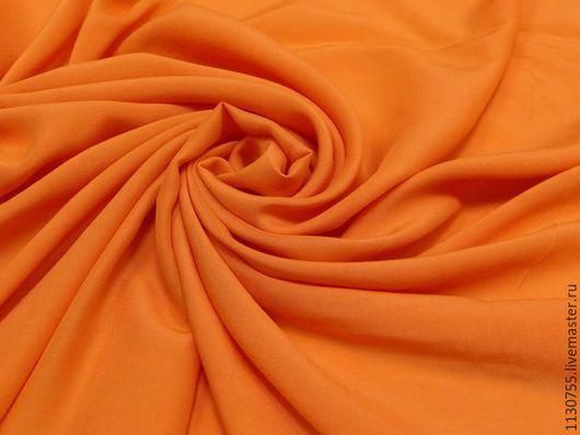 Шитье ручной работы. Ярмарка Мастеров - ручная работа. Купить Ткань штапель оранжевый. Handmade. Оранжевый, штапель, вискоза, ткани