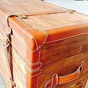 Для дома и интерьера handmade. Livemaster - original item 5.  Chest leather. Handmade.