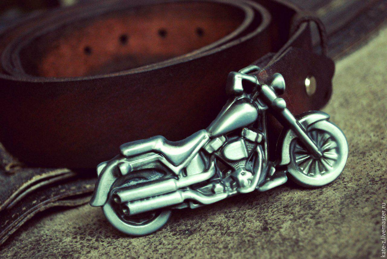 Ремень кожаный для байкеров ремень вдв с ножами